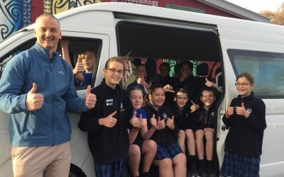 School's new 12-seater van right on time
